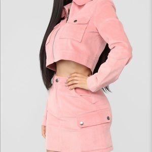 Fashion Nova Corduroy skirt set